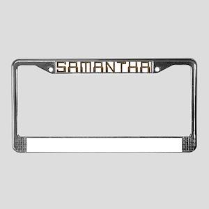 Samantha Circuit License Plate Frame