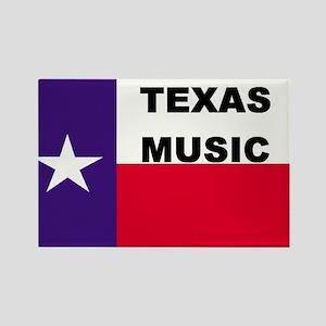 Texas Music Rectangle Magnet