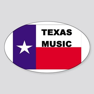 Texas Music Oval Sticker