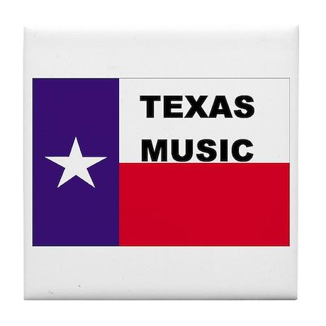 Texas Music Tile Coaster