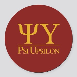 Psi Upsilon Fraternity Letters an Round Car Magnet