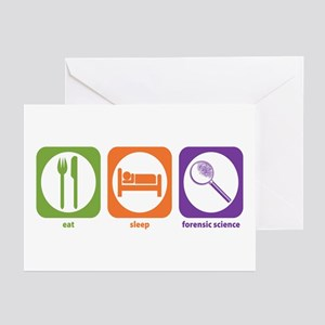 Eat Sleep Forensic Greeting Cards (Pk of 10)