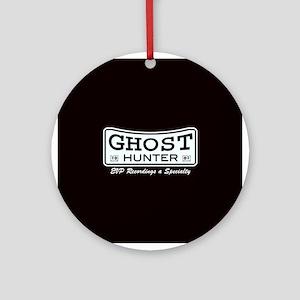 Ghost Hunter EVP Black Ornament (Round)