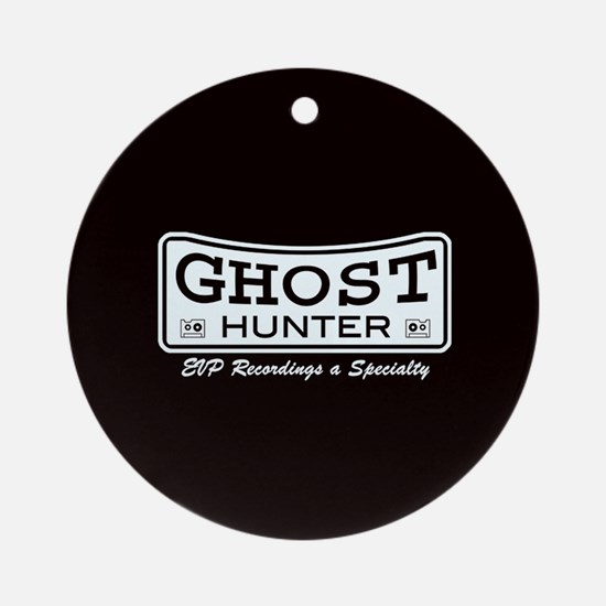 Ghost Hunter EVP Black Ornament (Round)