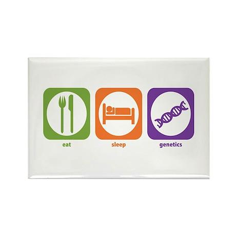 Eat Sleep Genetics Rectangle Magnet