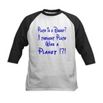 Pluto: Dwarf or Planet? Kids Baseball Jersey