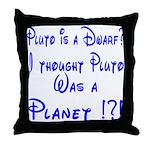 Pluto: Dwarf or Planet? Throw Pillow