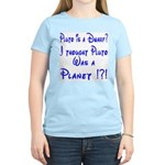 Pluto: Dwarf or Planet? Women's Pink T-Shirt