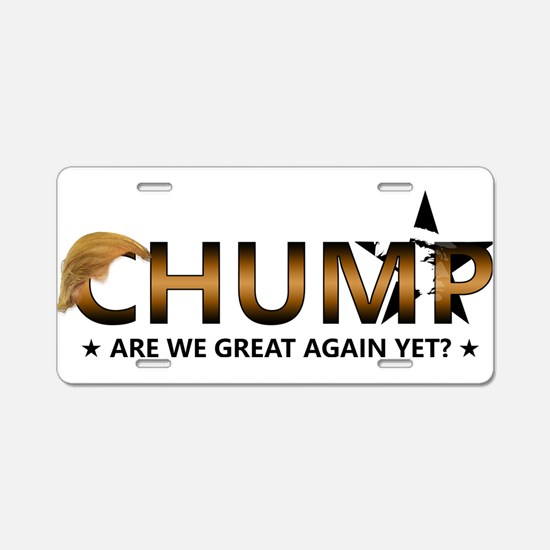 Anti President Donald Trump Aluminum License Plate