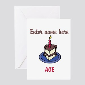 Personalized Birthday Cake Greeting Card