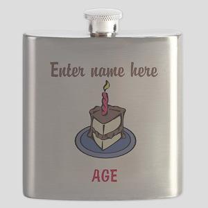 Personalized Birthday Cake Flask