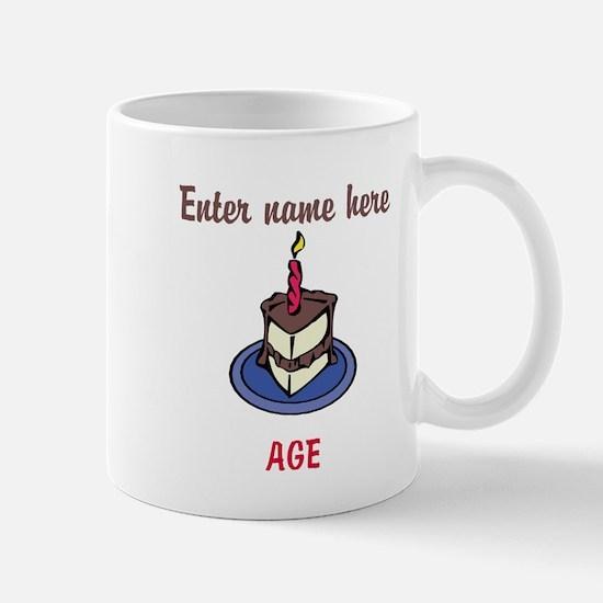 Personalized Birthday Cake Mug
