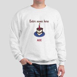 Personalized Birthday Cake Sweatshirt