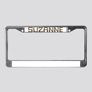 Suzanne Circuit License Plate Frame