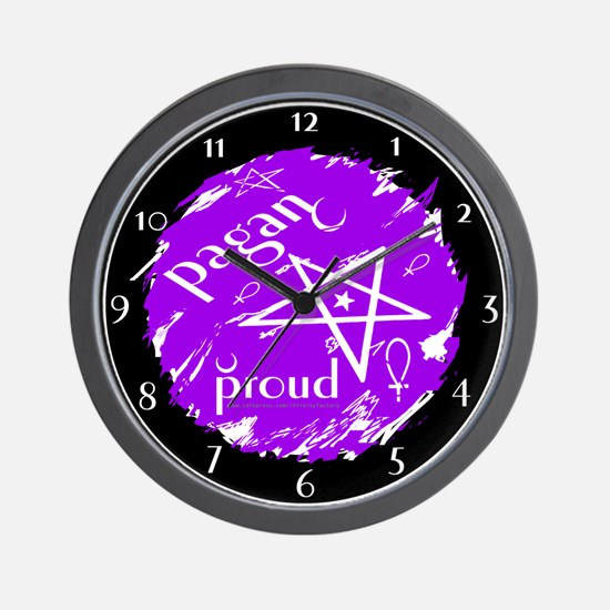 Proud Pagan Wall Clock