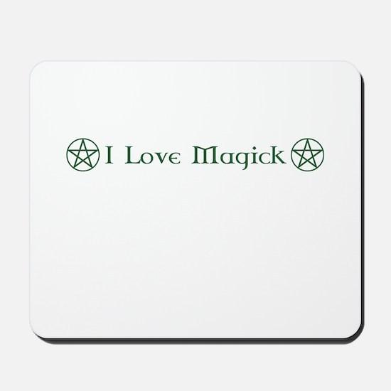 I Love Magick Mousepad