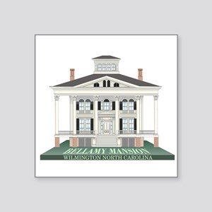 "Bellamy Mansion Square Sticker 3"" x 3"""