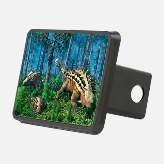 Ankylosaur family, artwork - Hitch Cover