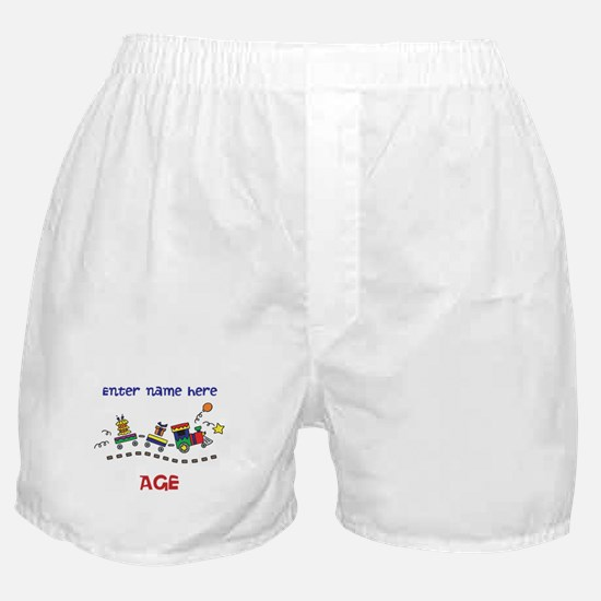 Personalized Birthday Train Boxer Shorts