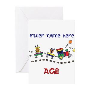 Personalized Birthday Train Greeting Card