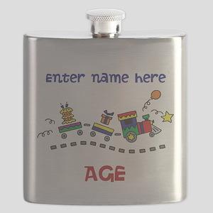 Personalized Birthday Train Flask