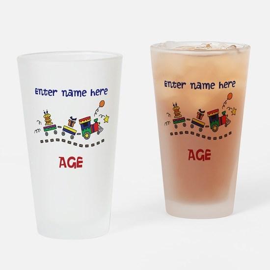 Personalized Birthday Train Drinking Glass