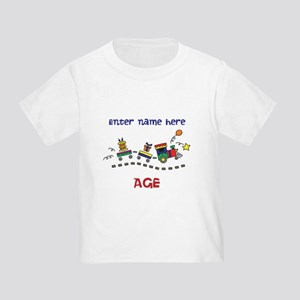 Personalized Birthday Train Toddler T Shirt