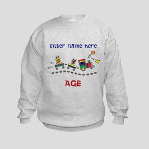 Personalized Birthday Train Kids Sweatshirt