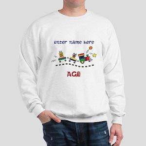 Personalized Birthday Train Sweatshirt