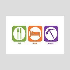 Eat Sleep Geology Mini Poster Print
