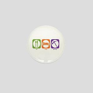 Eat Sleep Geology Mini Button