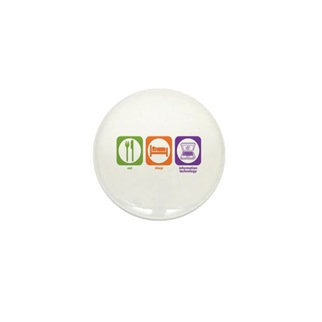 Eat Sleep Information Mini Button (100 pack)