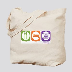 Eat Sleep Information Tote Bag