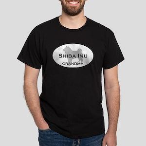 Shiba Inu GRANDMA Black T-Shirt