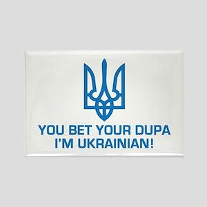 Funny Ukrainian Dupa Rectangle Magnet