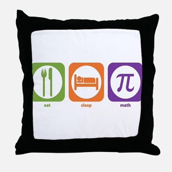 Eat Sleep Math Throw Pillow