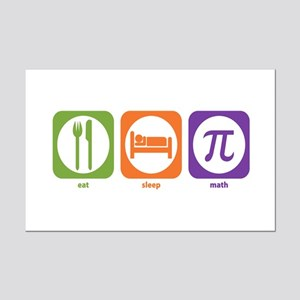 Eat Sleep Math Mini Poster Print
