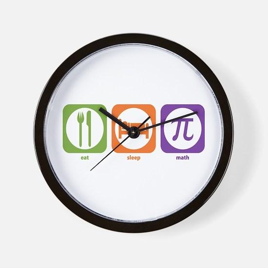 Eat Sleep Math Wall Clock