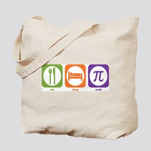 Eat Sleep Math Tote Bag
