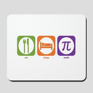 Eat Sleep Math Mousepad