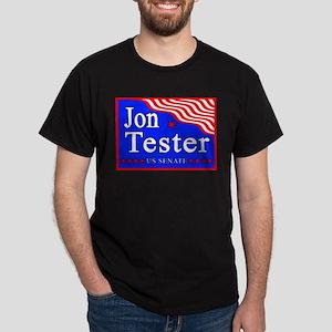 Montana Jon Tester US Senate Black T-Shirt