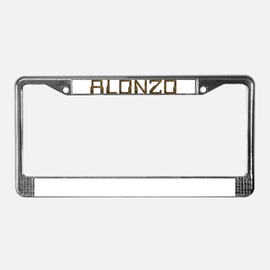 Alonzo Circuit License Plate Frame