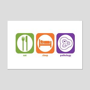 Eat Sleep Pathology Mini Poster Print