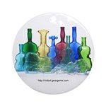 Violin Bottles Photo #1 Ornament (Round)