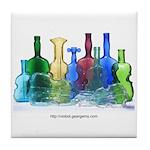 Violin Bottles Photo #1 Tile Coaster