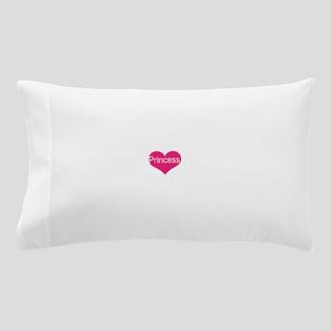princess, pink heart, Pillow Case