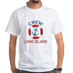 Crew Long Island White T-Shirt