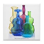Violin Bottles Photo #3 Tile Coaster