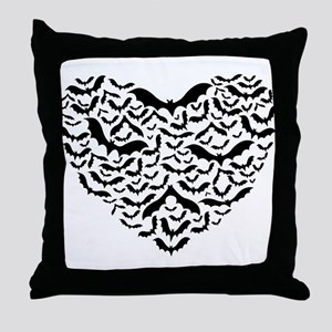Bat Love Throw Pillow