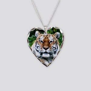MAJESTIC TIGER Necklace Heart Charm